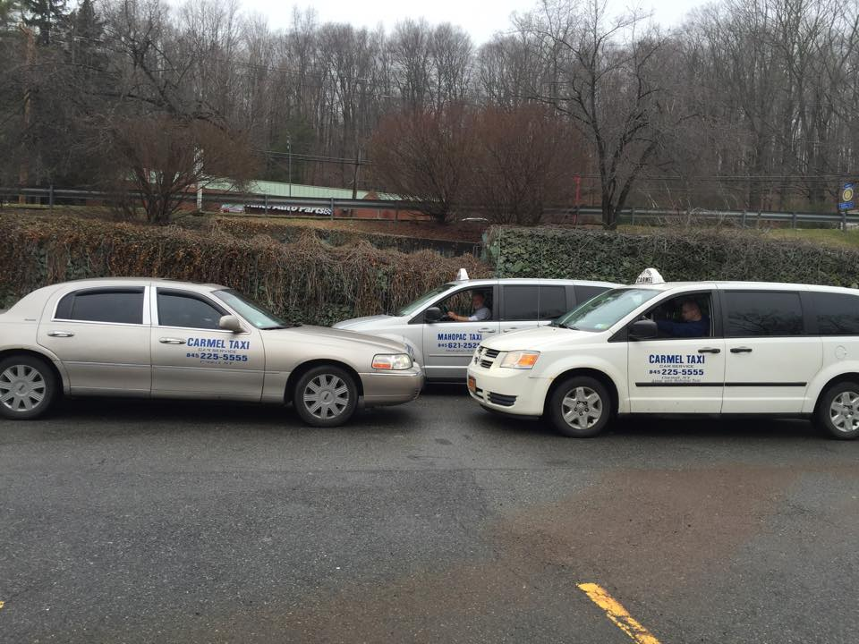 MAHOPAC CAR SERVICE, INC. Taxi. A land commercial vehicle used for the transporting of persons in non-emergency situations. The vehicle meets local, county or state regulations set forth by the jurisdictions where it is located.